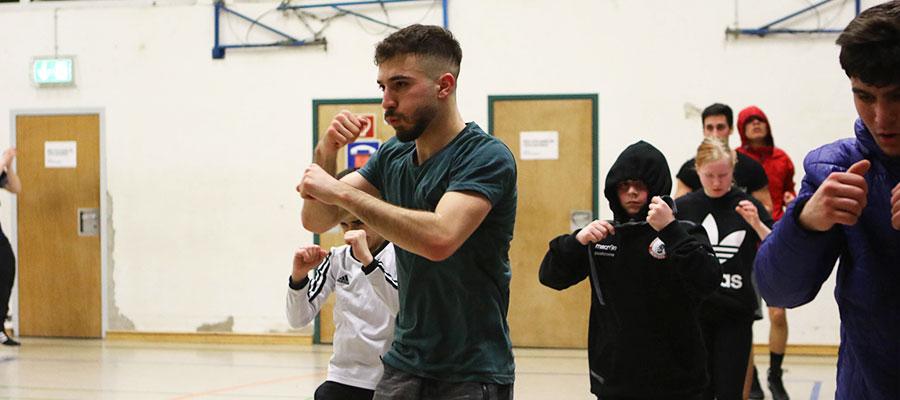 Trainieren vom Boxerlauf